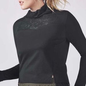 Fabletics Jolie Jacket Pullover w/Lace Section